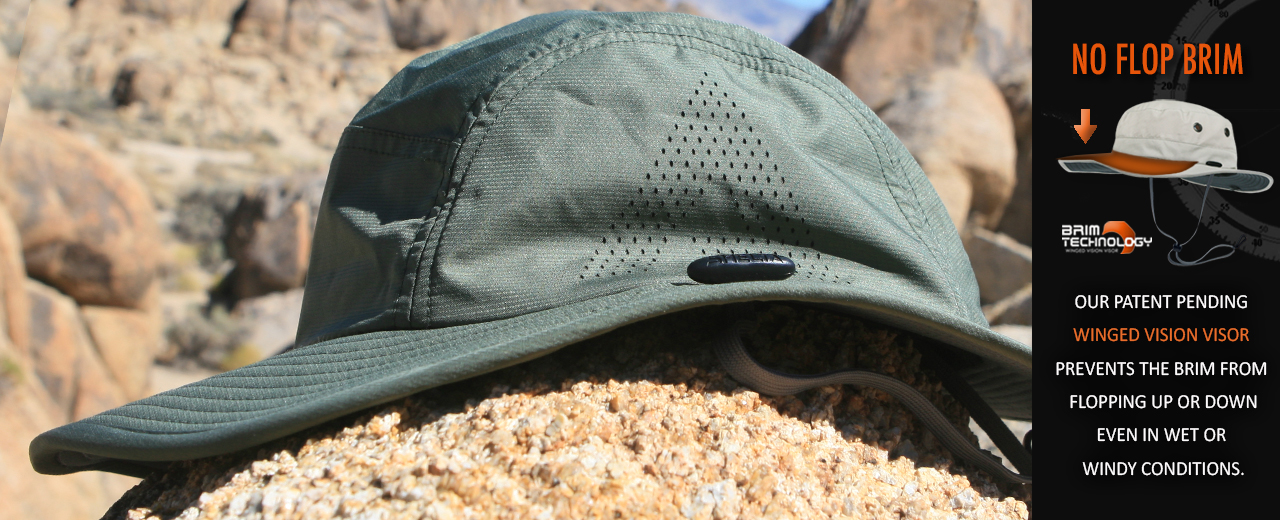 7f70978bc271b Product Details The Firebird c2 performance sun hat has a streamlined look  with a wide-